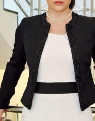 giacca modello chanel nero