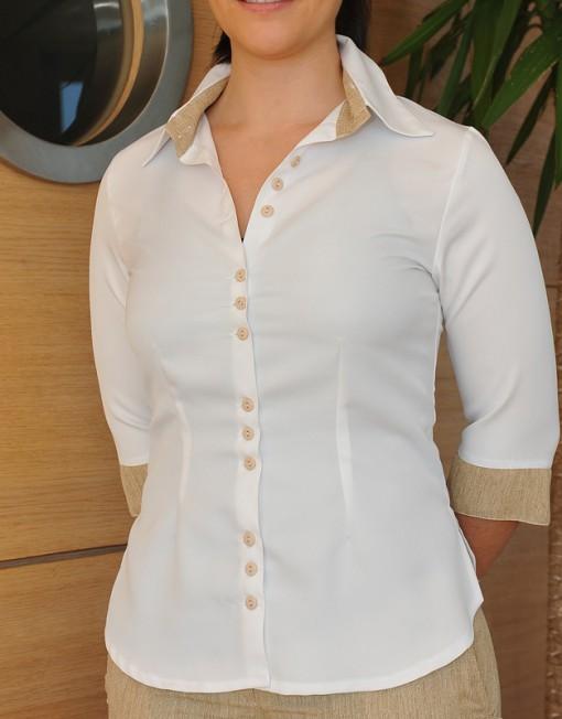 camicia-con-bottoni-maniche-tre-quarti