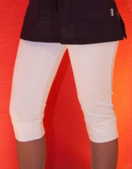 pantalone pinocchietto bianco cotone